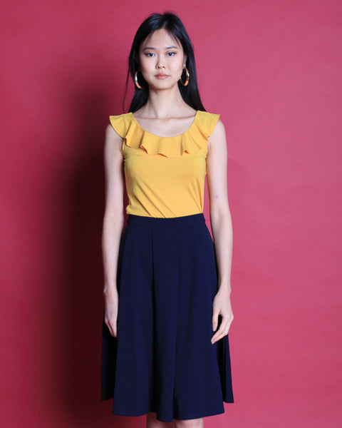 Flamingo Flare Skirt Navy (38164)
