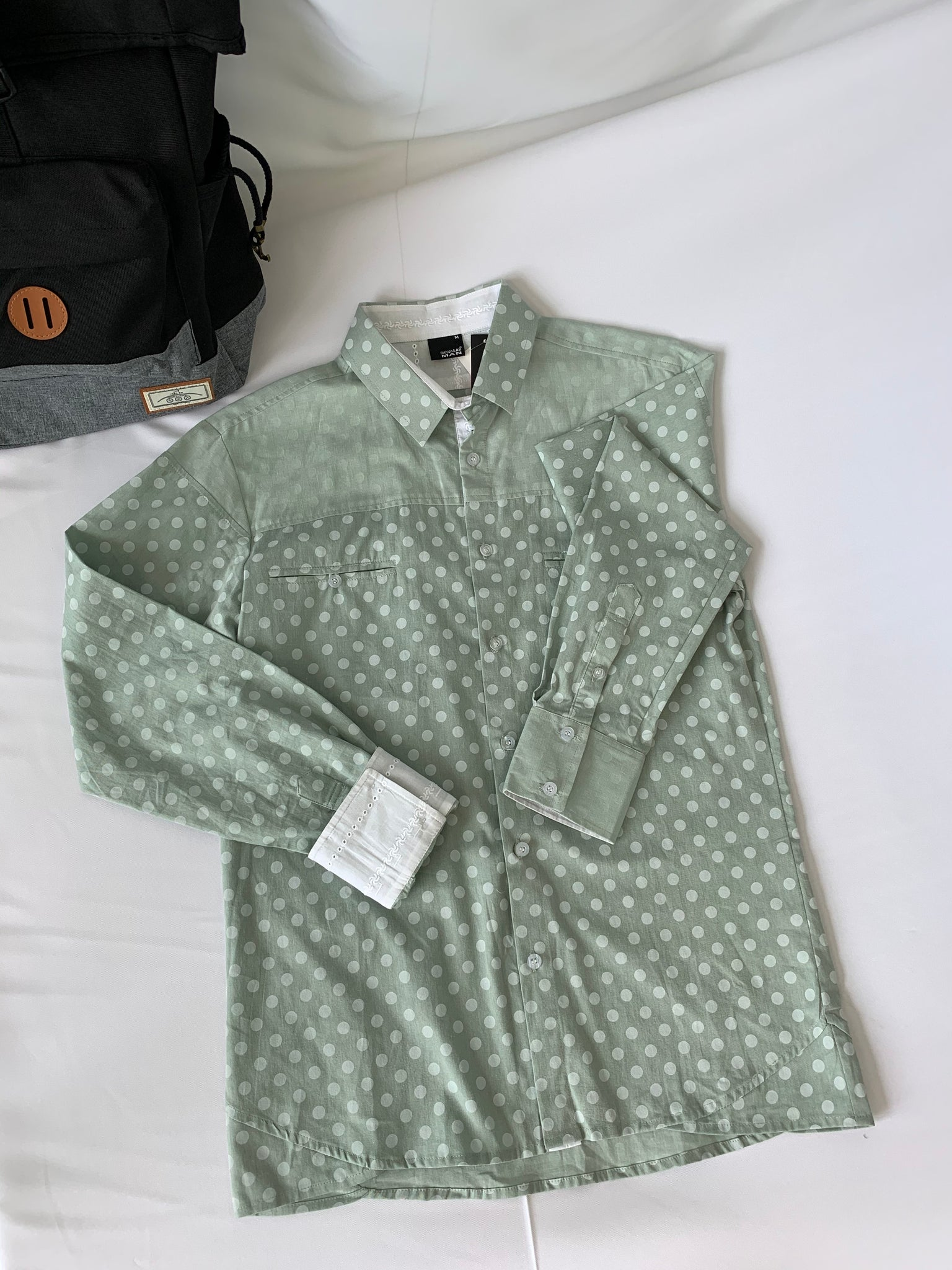 Kitsune Long Sleeve Dots Green (61304)