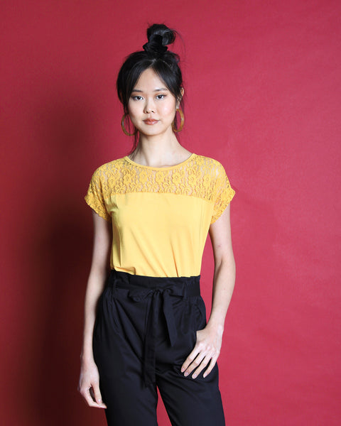 Kanari Lace Top Mustard (18220)