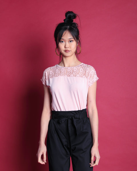 Kanari Lace Top Pink (18220)