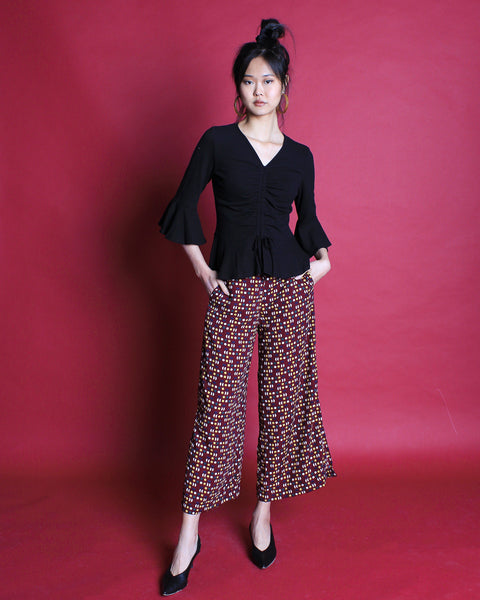 Moon Flare Pants Maroon (58194)