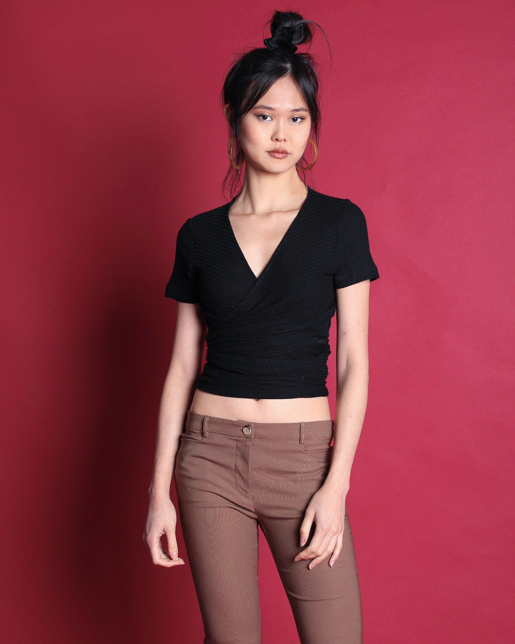 Urban Wrap Top Black (18206)