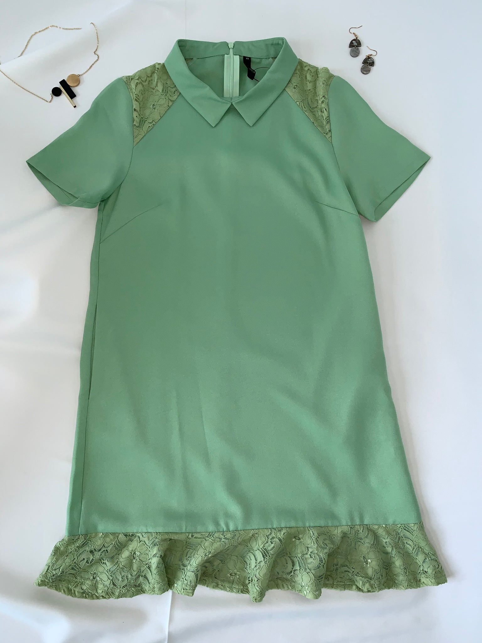KeKe Short Sleeve Dress Pistachio (78393)