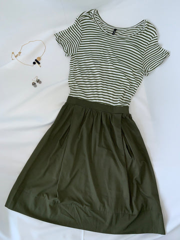 Misaki Joint Dress Olive (78168)