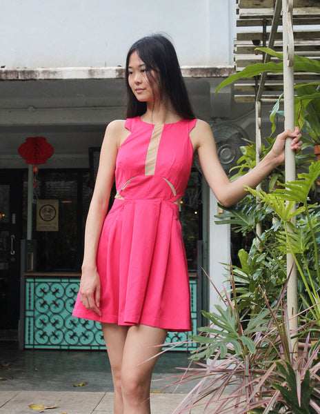 Pepper Cut-Out Dress Pink (77370)