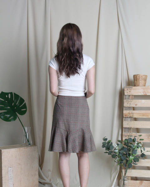 Narita Checks Skirt Brown (38187)