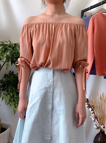 Monty Off Shoulder Top Pink (18476)