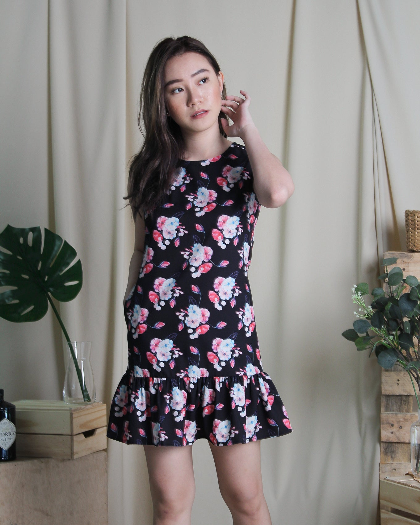 Sakura Dress Black (78252)