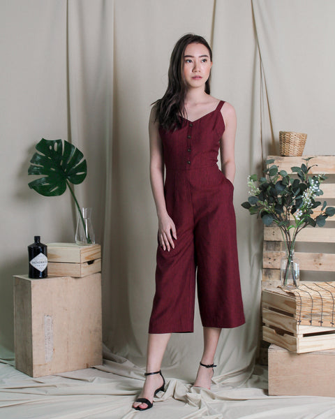 Jolly Jumpsuit Maroon  (78281)