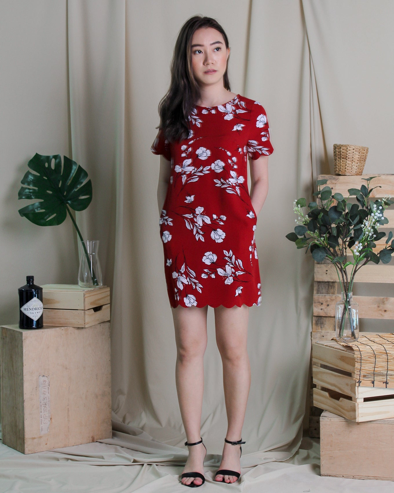 Camella Dress Brick (78225)