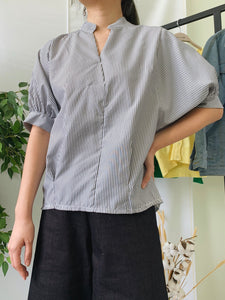 Shirley Pinstripes Top Black (18473)