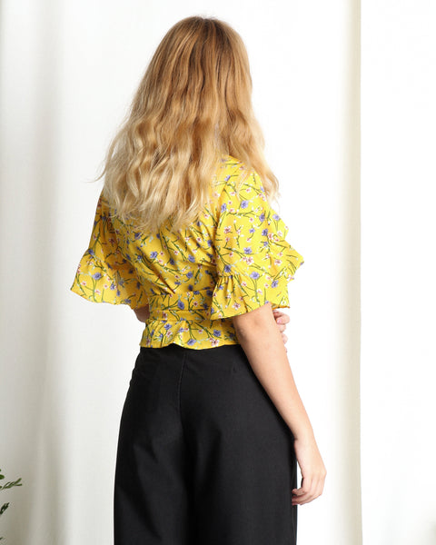 Ellis Wrap Top Marigold (18275)