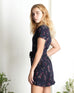 Marigold Ruffle Dress Navy (78290)