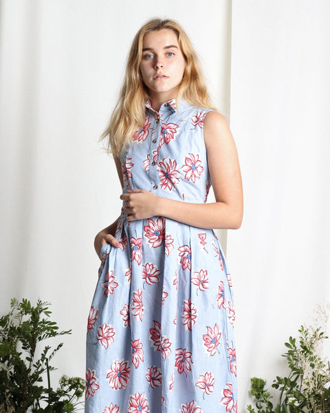Ume Flower Dress Baby Blue (78309)