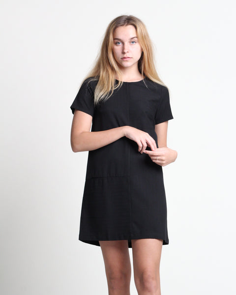 Cui Cui Short Sleeve Dress Black (78340)
