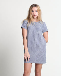 Cui Cui Short Sleeve Dress Navy (78340)