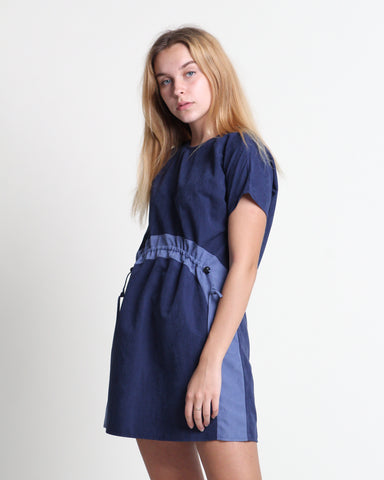 Xiang Xiang Short Sleeve Dress Navy (78338)