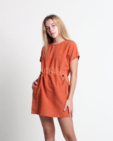 Xiang Xiang Short Sleeve Dress Rust (78338)