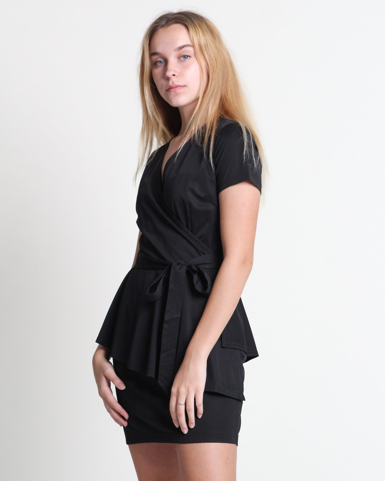 Sa Sa Wrap Dress Black (78311)
