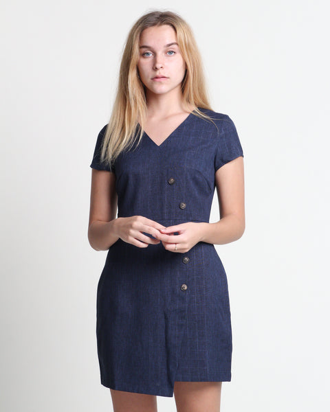 Min Short Sleeve Dress Navy (78321)