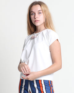 Haha Short Sleeve Top Off-White (18336)