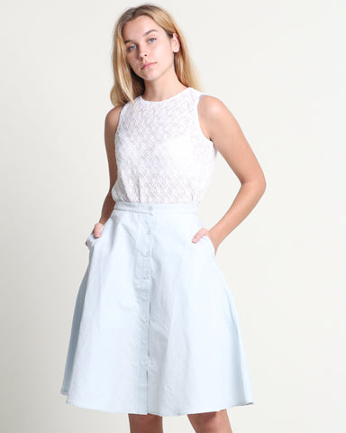 Uni Flare Skirt Baby Blue (38313)