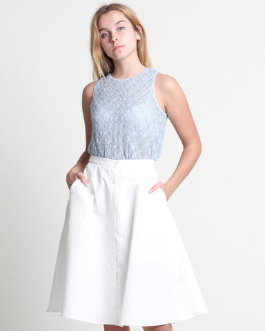 Uni Flare Skirt Off-White (38313)