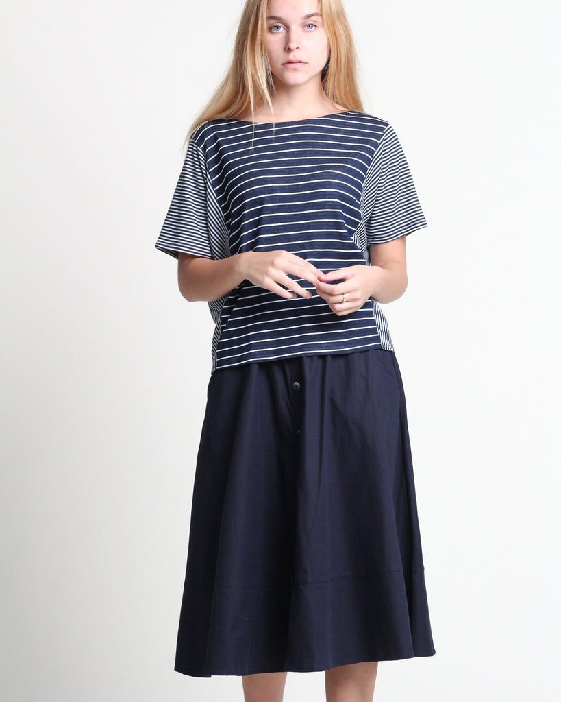 Piao Flare Skirt Navy (38401)