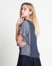 Wen Wen Short Sleeve Top Navy (18333)