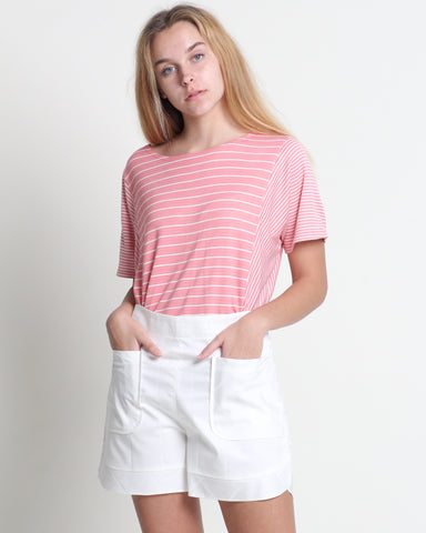 Wen Wen Short Sleeve Top Pink (18333)