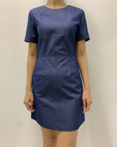 Umi Short Sleeve Dress Navy (77841)