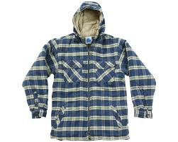 Penarth Hoody Warm Fleece Lined Padded Shirts  In 3 Colours (125)