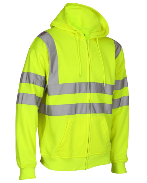 High Visibility Hooded Tops Full Length Zip (16 Yellow /159 Orange )