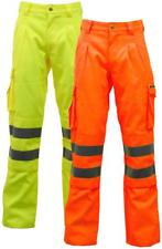 Hi-Vis Poly Cotton Part Elasticated Combat Trousers (192 Yellow/12 Orange)