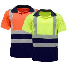 Hi-Viz 3 Button Polo T Shirts (203 Yellow/209 Orange)