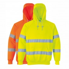 Hivis Hooded Top No Zip Pullover Hoody (193 Yellow/220 Orange)