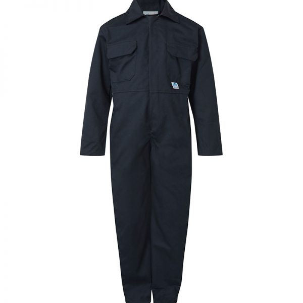 White, Waist To Fit 36 Blue Castle Heavy Duty 240GSM Polyester Cotton Workmans Bib n Brace Coveralls Overalls Dungarees
