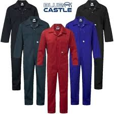 Blue Castle Zip Front Boiler Suits In Asst Colours (366)