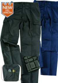 Blue Castle Poly Cotton Cargo Work Trousers (766)