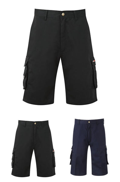 Tuffstuff Pro Cargo Style Work Shorts In Black/Navy (811)