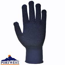 Portwest Thermolite Navy Blue Polka Dot Gloves (A116)