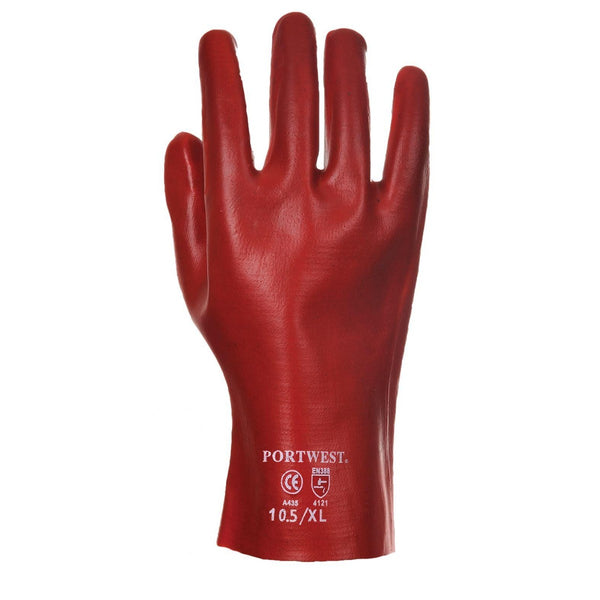 Portwest Pvc Gauntlet Red Waterproof Gloves A427