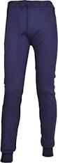 Navy Thermal Long Johns Trouser With Elasticated Waist (B121)