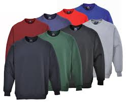 Roma Sweatshirts In Black, Grey, Navy, Bottle Green, Maroon (B300)