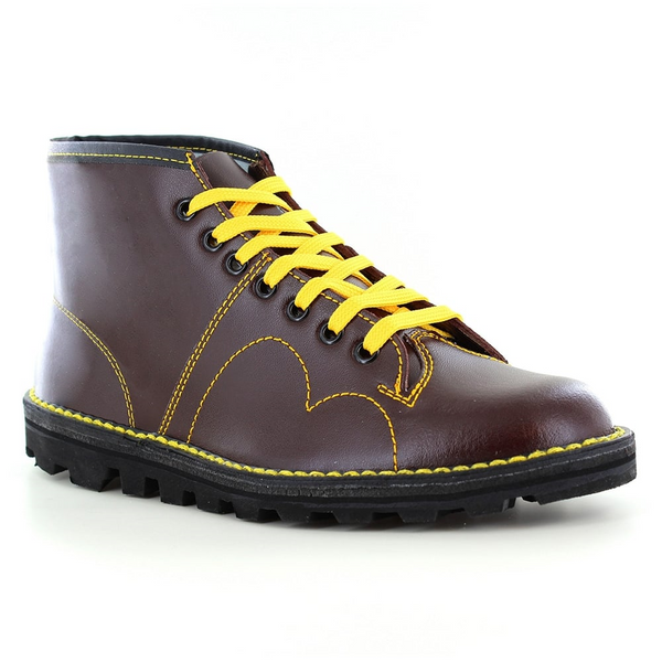 Grafters Leather 7 Eyelet Monkey Boots (B430A/BD)