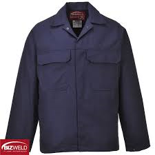 Bizweld Navy Flame Retardent Work Jacket (BIZ2)