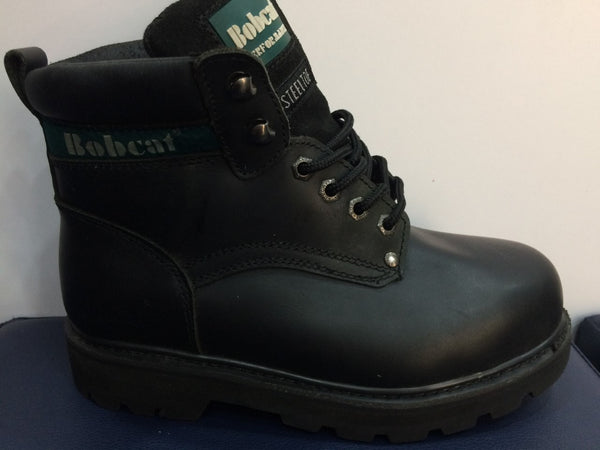 Bobcat Black Leather Safety Boots S2 (391)