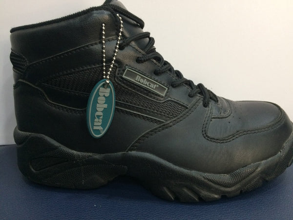 Bobcat Black Leather Safety Trainer Boots SB (400)