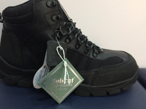 Bobcat Black Leather Safety Boots SB (408)