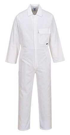 Portwest White Cotton Overall/Coverall  (C806)